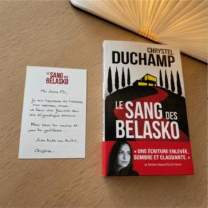 Réception Le Sang des Belasko de Chrystel Duchamp